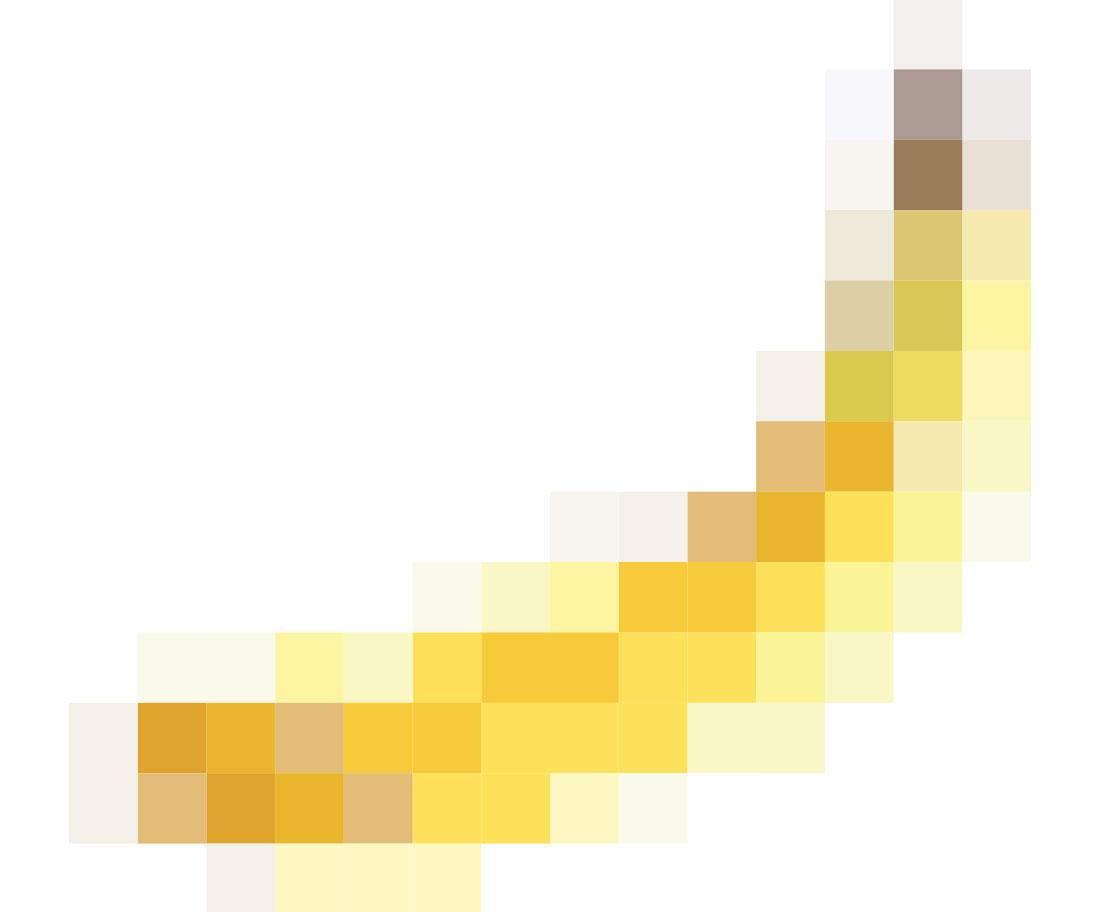 Pixelgrafik Banane