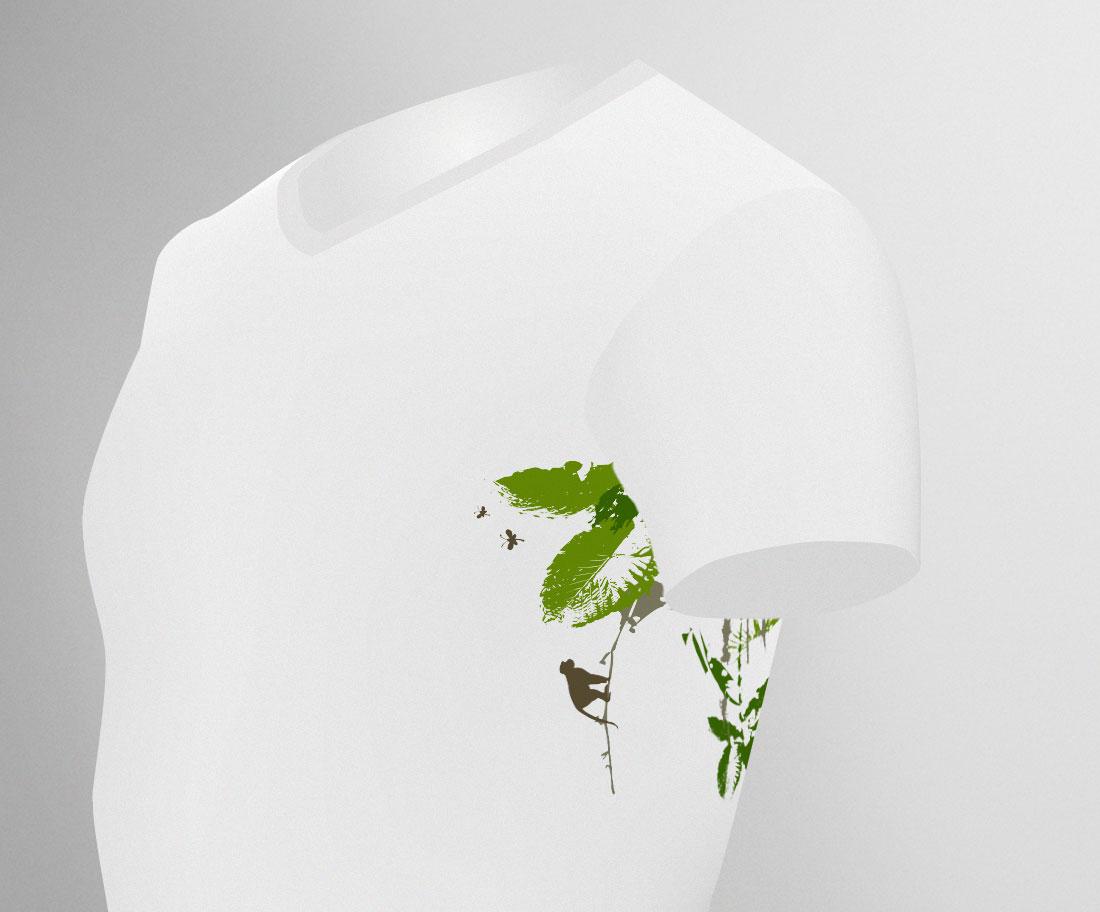 """TShirt-Motiv """"Dschungel unter den Achseln"""""""