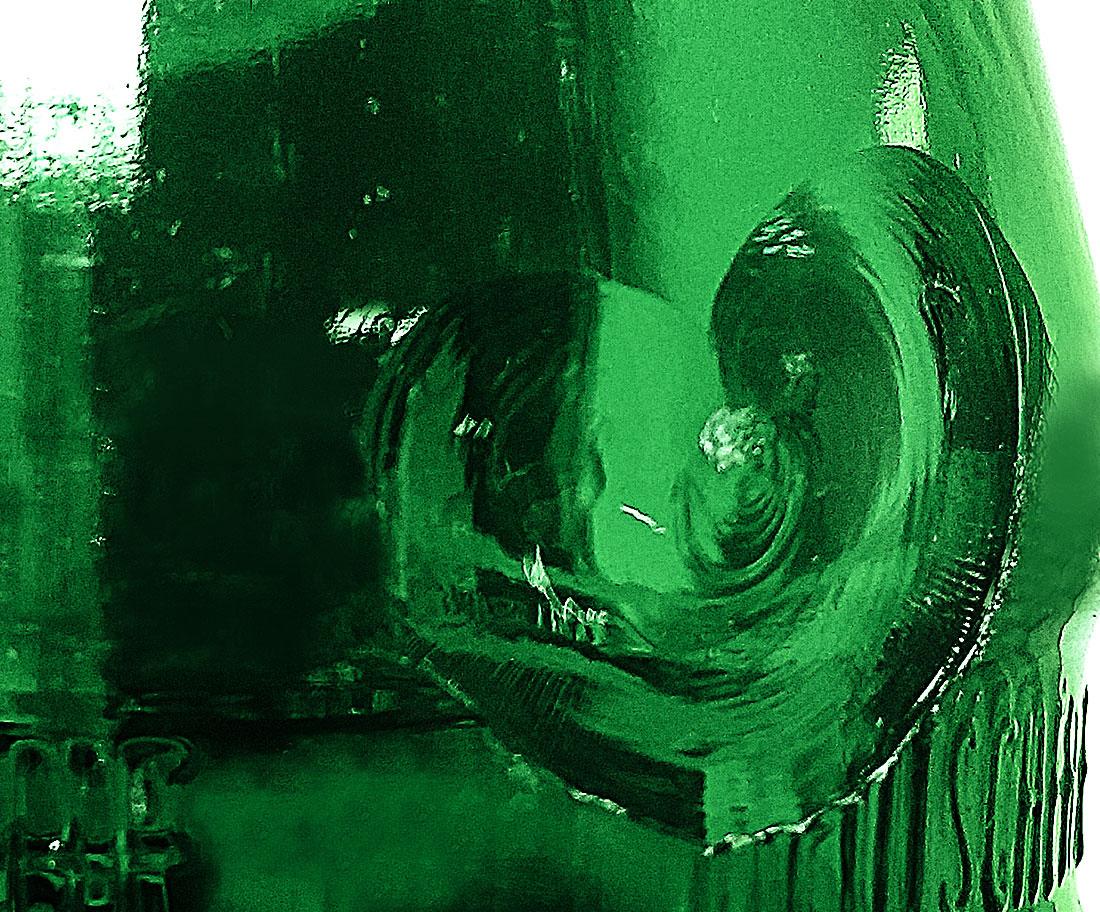 Foto Glasflasche Herz