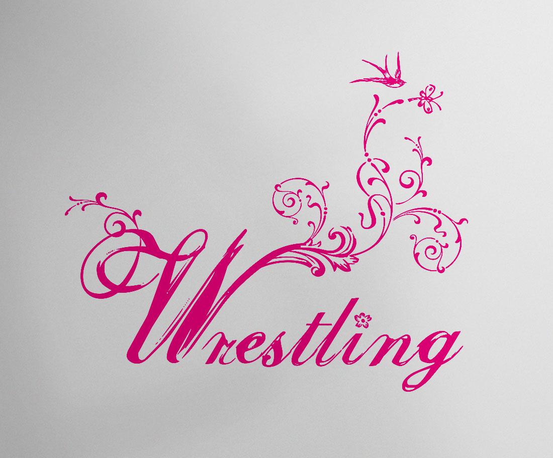 Schriftzug Wrestling