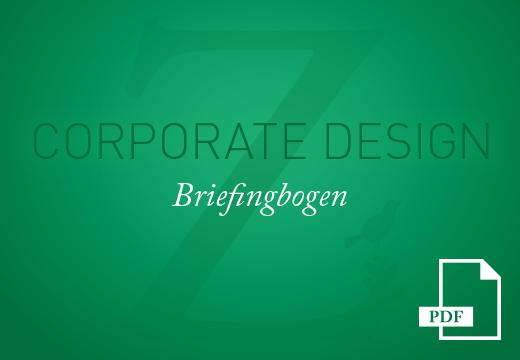 Teaser Corporate Design Briefingbogen