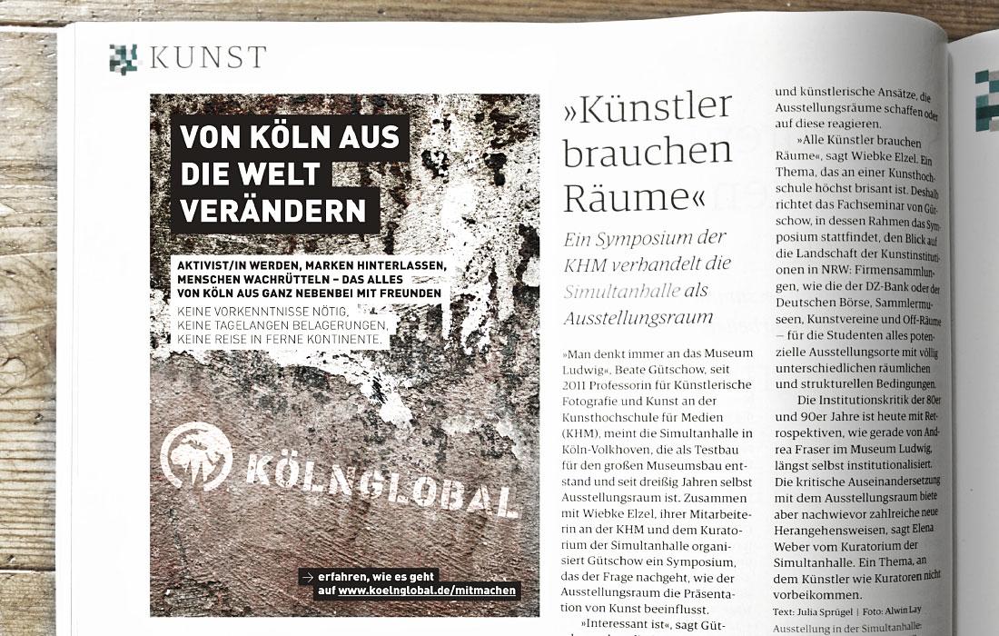 Kölnglobal Anzeige