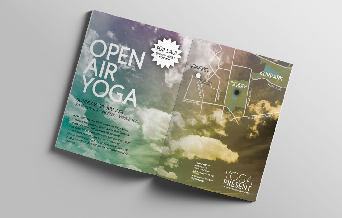 Yoga Present Anzeige Open Air