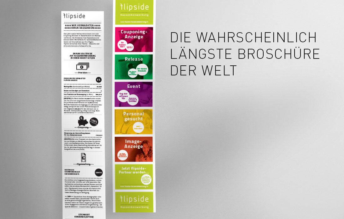 flipside Kassenzettel-Broschüre